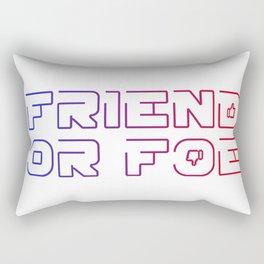 friend or foe Rectangular Pillow