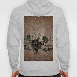Decorative floral design Hoody