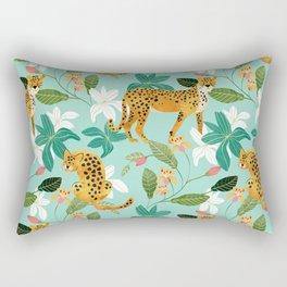 Cheetah Jungle #illustration #pattern Rectangular Pillow