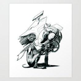 Jetpack Dog | Mona Art Print