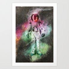 space watercolor Art Print