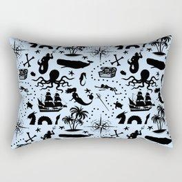 High Seas Adventure // Light Blue Rectangular Pillow