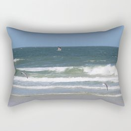Birds Flying on the Beach Rectangular Pillow