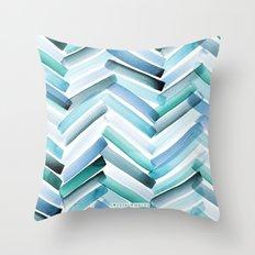 Cycladic Chevron Throw Pillow