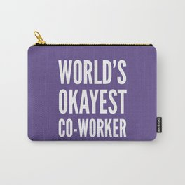World's Okayest Co-worker (Ultra Violet) Carry-All Pouch