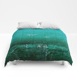 Emerald seagulls Comforters