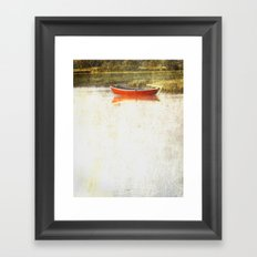 Red metal Framed Art Print
