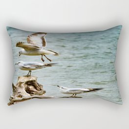 Two On - One Off Rectangular Pillow