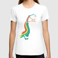 T-shirts featuring Fat Unicorn on Rainbow Jetpack by Picomodi