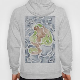 Earth Tones     190112 Watercolor Abstract Painting Hoody
