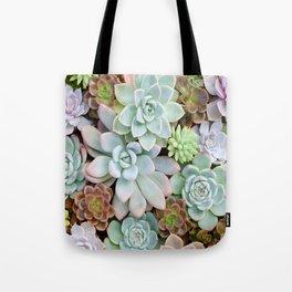 Pastel Succulent Garden Tote Bag