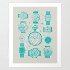 Blue version Art Print