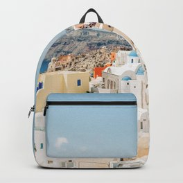 Colorful View of Santorini, Greece Backpack