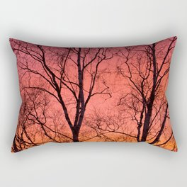 Tree Silhouttes Against The Sunset Sky #decor #society6 #homedecor Rectangular Pillow