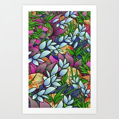 Floral Abstract Artwork G464 Art Print