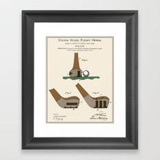 Golf Club Patent Framed Art Print