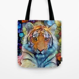 Painted Tiger Tote Bag