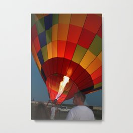 Firing up the Balloon Metal Print