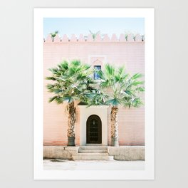 "Travel photography print ""Magical Marrakech"" photo art made in Morocco. Pastel colored. Art Print"