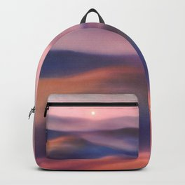 Minimal abstract landscape II Backpack