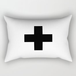 Swiss Cross white and black Swiss Design for minimalist home room wall art decor for apartment Rectangular Pillow