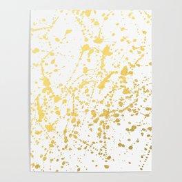 Splat White Gold Poster