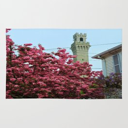 Pilgrim Monument with Flowers Rug