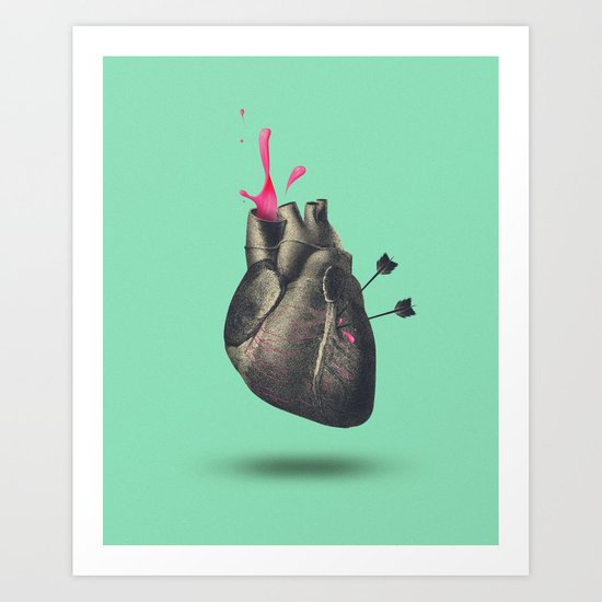 heart of sugar Art Print