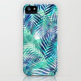 Palm Leaves - Indigo Green iPhone Case