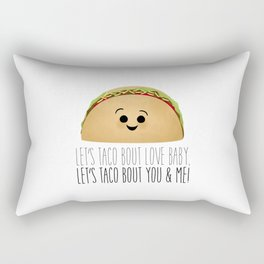 Let's Taco Bout Love Baby Rectangular Pillow