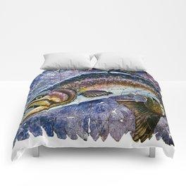 Vintage Blue Trout Fresco Comforters