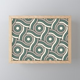 Circle Swirl Pattern Ever Classic Gray 32-24 Thistle Green 22-18 and Dover White 33-6 Framed Mini Art Print