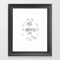 wonderful day Framed Art Print