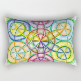 Fundamental Patterns of the Universe - The Rainbow Tribe Collection Rectangular Pillow