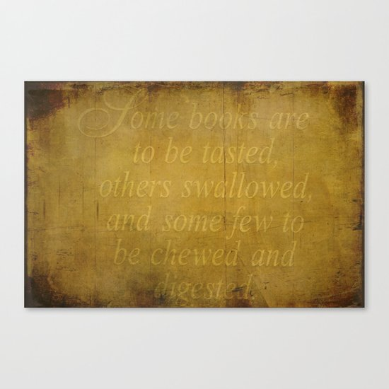 Some books are... Canvas Print