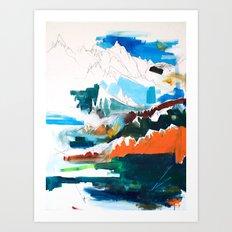 Flying Through the Mountains Art Print