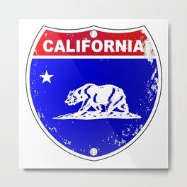California Interstate Sign Metal Print