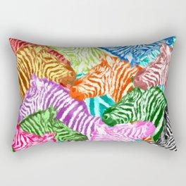 COLORFUL ZEBRAS Rectangular Pillow
