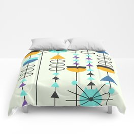 Kitty mid-century decor Comforters