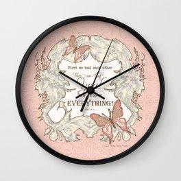 Butterfly Dreams Baby Girl Nursery Wall Art Saying Shower Gift Wall Clock