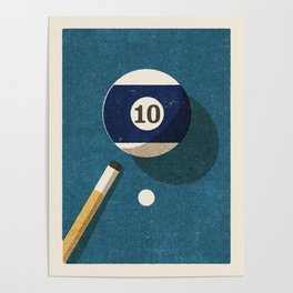 BILLIARDS / Ball 10 Poster