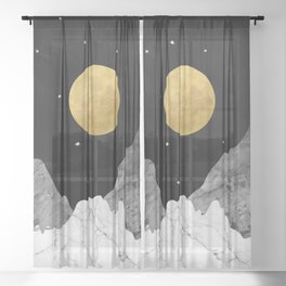 Moon and Stars Sheer Curtain