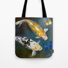 Koi Fish and Butterflies Tote Bag