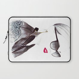 Watercolour Fashion Illustration Titled In Dior Zeli's Laptop Sleeve