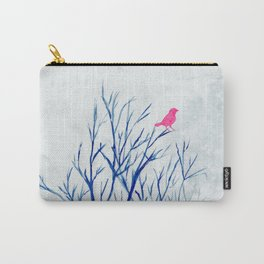 Perching bird on winter tree Carry-All Pouch