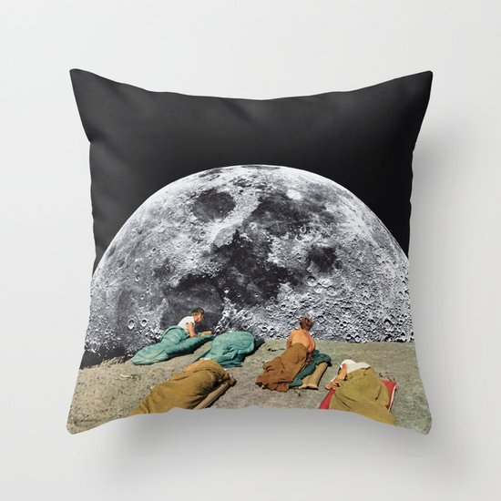CAMPGROUND Throw Pillow