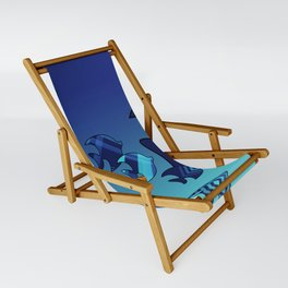 Nine Blue Fish with Patterns Sling Chair