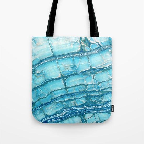 Blue onyx marble Tote Bag