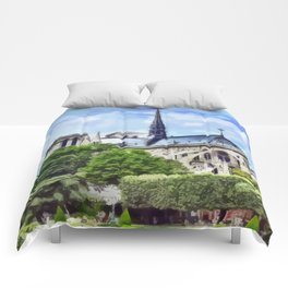 Paris - Kathedrale Notre-Dame Comforters