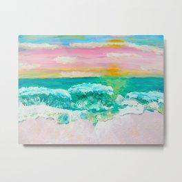 Pink Sand Sunset Metal Print